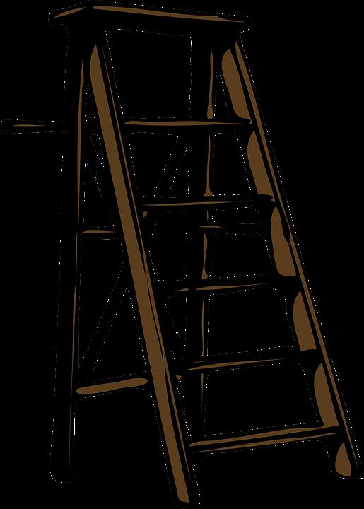Une échelle télescopique